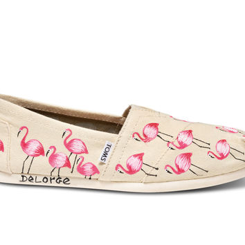 HAITI ARTIST COLLECTIVE NATURAL FLAMINGO WOMEN'S CANVAS CLASSICS