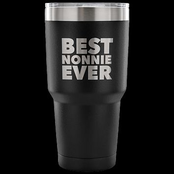 Nonnie Gifts Best Nonnie Ever Tumbler Metal Mug Double Wall Vacuum Insulated Hot Cold Travel Cup 30oz BPA Free