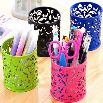 Hot Makeup Brush Vase Pattern Brush Pot Pen Holder Stationery Storage Kids Gift Home Office Holder