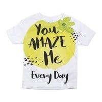 YOU AMAZE ME EVERY DAY TODDLER ALL OVER PRINT TEE