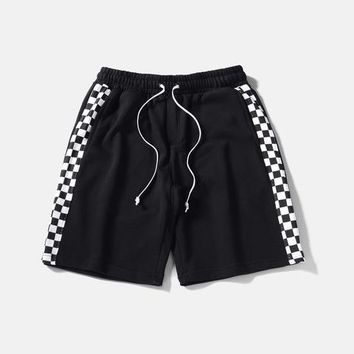 Plaid Checkerboard Style Shorts