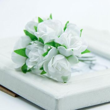 Artificial Mini Rose Flowers Bouquet Wedding Decoration