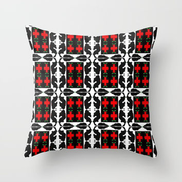 Pattern Throw Pillow by Phinilez