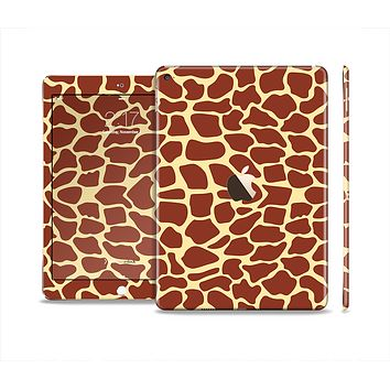 The Simple Vector Giraffe Print Skin Set for the Apple iPad Pro