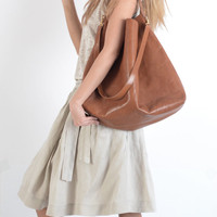 XXL Butterfly tote in honey brown