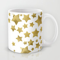 Starry Magic - White Mug by Lisa Argyropoulos