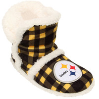 Women's Pittsburgh Steelers NFL Flannel Sherpa Boot Slippers