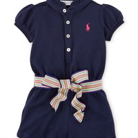Ralph Lauren Baby Girls' Four-Button Romper