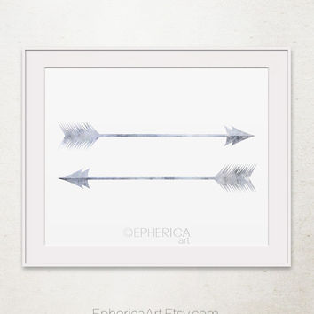 Gray arrows art print, Arrow print Arrow wall art, Arrows printable wall art Feather arrow wall print Printable grey wall art Grey art print