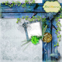 Enchanted - 12x12 inch - Digital Scrapbook QUICKPAGE Layout - Pre-Made Quickpages - Pre-Made Layouts - INSTANT DOWNLOAD