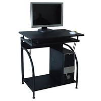 Computer Desk With Pullout Keyboard Tray & Bottom Shelf