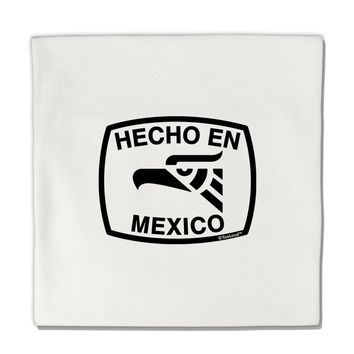 "Hecho en Mexico Eagle Symbol with Text Micro Fleece 14""x14"" Pillow Sham by TooLoud"