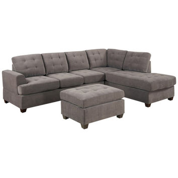 Drew Tufted Sectional Sofa