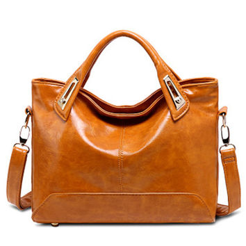 Women Oil Wax Leather Designer Handbags High Quality Shoulder Bags Ladies Hand Bags Sac A Main Femme De Marque Bolso Mujer Tote