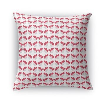 DANCING FLOWER, BRIGHT Accent Pillow By Heidi Miller