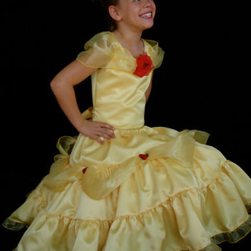 Ari's Angels Disney Princess Belle, Beauty and the Beast Dress Pageant, Halloween