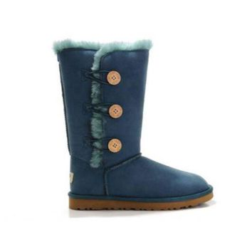 Gotopfashion Ugg Boots Black Friday Bailey Button Triplet 1873 Turquoise For Women 83 46