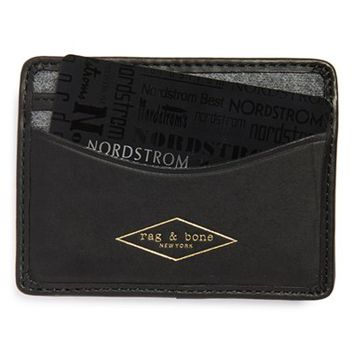 Men's rag & bone 'Hampshire' Card Case - Black
