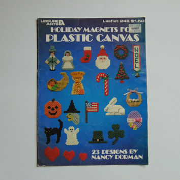 Holiday Magnets for Plastic Canvas Leisure Arts 246