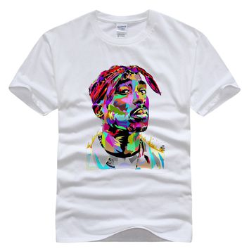 New men/women t shirt 3d tupac  2PAC print tshirt hip hop fashion rock t-shirt camisetas