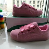 """PUMA"" Fashion Casual Ribbon Plate Shoes Women Sneakers"
