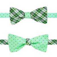 Countess Mara Reversible Tonal Dot & Plaid Bow Tie