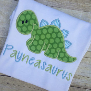 Personalized Dinosaur Shirt With Name, Boys Dinosaur Shirt, Dino Shirt, Dinosaur Birthday