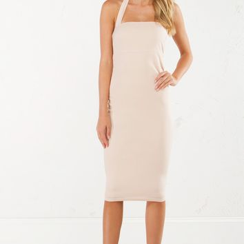 TOTAL BETTY HALTER BODYCON DRESS - What's New