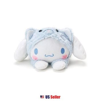 Sanrio Cinnamoroll Cat Costume Laying Petite Plush Doll Toy : Cinnamoroll $16.99