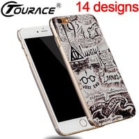 Coque For Iphone 6 5 Case Harry Potter Fundas Hard Transparent Plastic Stealth Phone Cover Case For iPhone 6 6s back cover capa