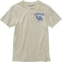 Kentucky Wildcats White Slub Knit Cotton Henley T-Shirt