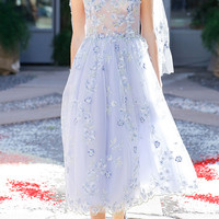 Tulle Embroidered Ballerina Dress | Moda Operandi
