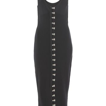 **Black Pointelle Midi Dress by Unique | Topshop
