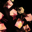 Origami Paper Cube Balloon Lantern with Wings on Decorative Fairy String Lights