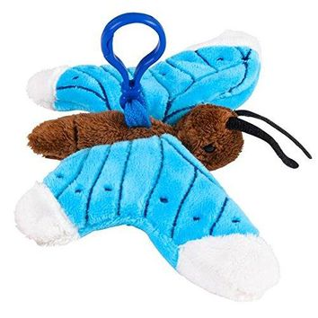 Wildlife Tree Blue Butterfly Plush 3.5 Inch Stuffed Animal Backpack Clip Toy Keychain Wildlife Hanger Party Favor Pack of 12