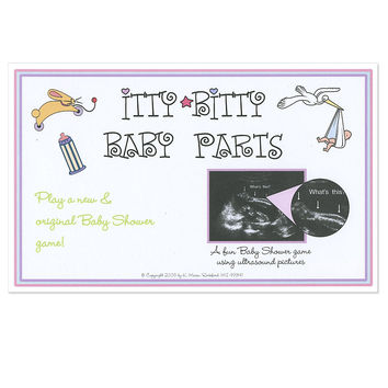 Itty Bitty Baby Parts - Ultrasound Picture Baby Shower Game - 25 ct