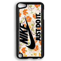 Flowers Nike Just Do It iPod Touch 5 Case