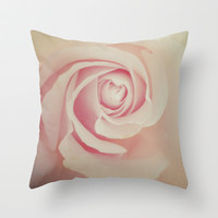 rose Throw Pillow by Marianna Tankelevich