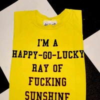 SWEET LORD O'MIGHTY! FUCKING SUNSHINE CROP TEE