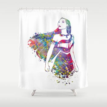 Princess Pocahontas Shower Curtain by Bitter Moon