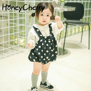 New Children's Trousers Suspenders For Fall Infant Baby Girl Shorts Baby Striped Bottoms Trousers Bloomers Baby Girl