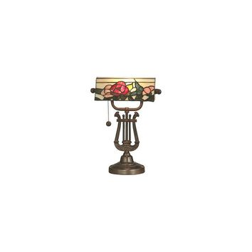 Dale Tiffany Broadview Bankers 16.25'' H Table Lamp with Drum Shade