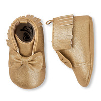 Baby Girls Fringed Bow Sparkle Bootie   The Children's Place