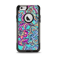 The Bright WaterColor Floral Apple iPhone 6 Otterbox Commuter Case Skin Set