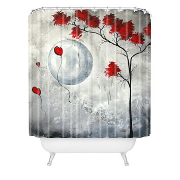 Madart Inc. Far Side Of The Moon Shower Curtain