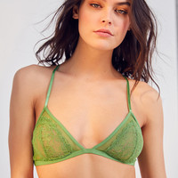 Out From Under Alexia Mesh Lace Triangle Bra   Urban Outfitters