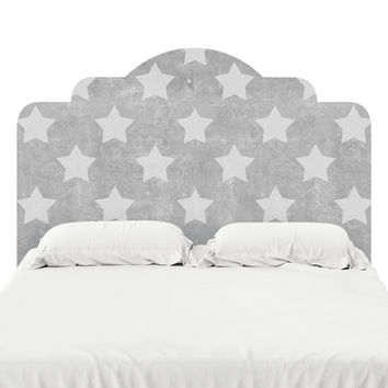 Stars on Concrete Headboard Decal