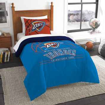 """Thunder OFFICIAL National Basketball Association, Bedding, """"Reverse Slam"""" Printed Twin Comforter (64""""x 86"""") & 1 Sham (24""""x 30"""") Set  by The Northwest Company"""