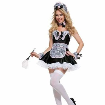 Cosplay Deluxe Sexy French Maid Costume of Sexy Beer Girl Costume stain alice costume