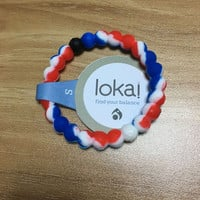 Lokai Bracelet (Blue and Red and White) (Best for Gift)